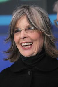Diane Keaton at the NASDAQ stock market opening bell.