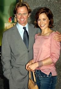 Jere Burns and Ashley Williams at the unveiling of NBC's fall lineup.