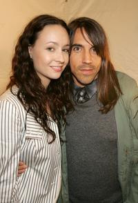 Jenni Kayne and Anthony Kiedis at the Jenni Kayne Fall 2005 show during the Mercedes-Benz Fashion Week.
