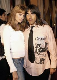 Anthony Kiedis and guest at the Playstation2 celebration of the Electronic Entertainment Expo.