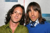 Dick Rude and Anthony Kiedis at the screening of