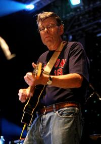 Stephen King at the performance with the Rock Bottom Remainders at Webster Hall.