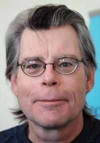 Stephen King at the press conference in London to launch his new book