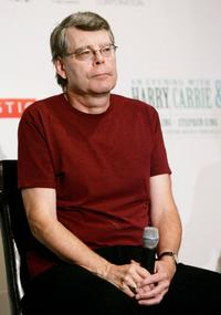 Stephen King at the news conference for