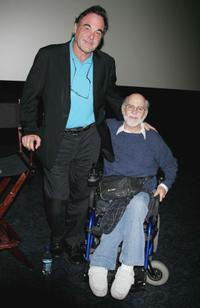 Director Oliver Stone and Ron Kovic at the Hollywood Film Festival.