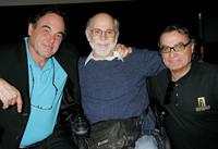 Director Oliver Stone, Ron Kovic and Carlos de Abreu at the Hollywood Film Festival.