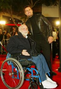 Ron Kovic and Tom Cruise at the premiere of