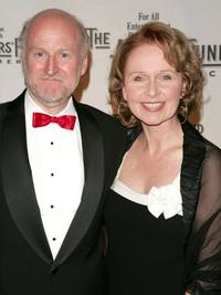 Honoree Rocco Landesman and Kate Burton at the Actors Fund of America annual gala.