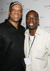 Levar Burton and Dr. Ewart F. Brown at the Bermuda Music Festival.
