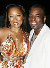Levar Burton and Stephanie Cozart Burton at the Bermuda Music Festival.