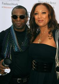 Levar Burton and wife Stephanie Cozart at the Mercedes Benz Fashion Week.