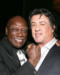 Tony Burton and Sylvester Stallone at the after party of the premiere of