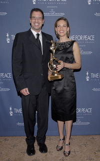 Richard LaGravenese and Hilary Swank at the Time for Peace Awards.