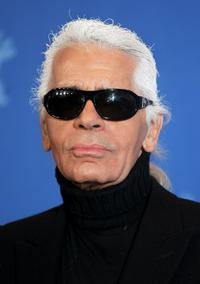 Karl Lagerfeld at the photocall of