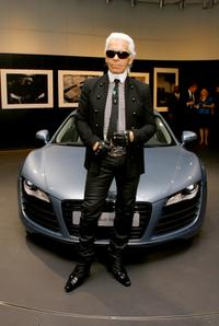 Karl Lagerfeld at the Kaleidoscopic Vision Of A Car: Audi R8 Seen By Karl Lagerfeld.