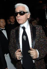 Karl Lagerfeld at the FENDI Great Wall Of China Fashion Show After Show Party.