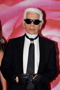 Karl Lagerfeld at the 2008 Monte Carlo Rose Ball