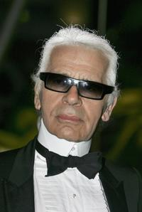 Karl Lagerfeld at the 58th Red Cross Ball.