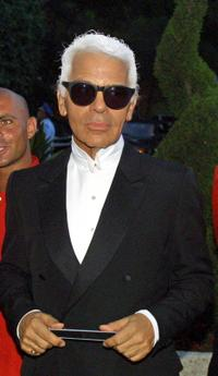 Karl Lagerfeld at the traditional Red Cross Gala.
