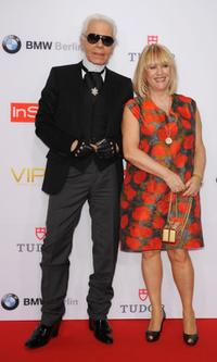 Karl Lagerfeld and Patricia Rikiel at the Viper Awards.