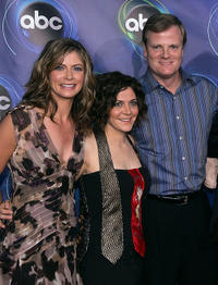 Gillian Vigman, Alison Quinn and Jerry Lambert at the ABC TCA party in California.