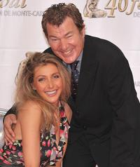 Karine Belly and Martin Lamotte at the TF1 party on the fourth day of 2008 Monte Carlo Television Festival.