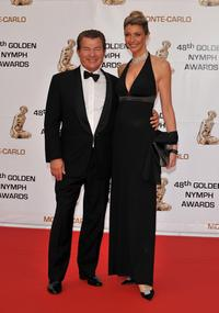 Martin Lamotte and Karine Belly at the Golden Nymph Awards ceremony during the 2008 Monte Carlo Television Festival.