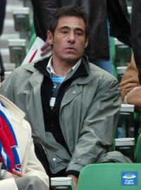 Gerard Lanvin at the friendly soccer match France vs Russia.