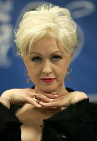 Cyndi Lauper at the