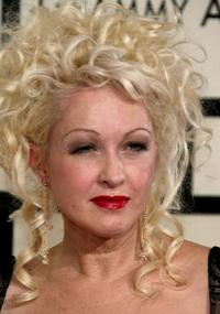 Cyndi Lauper at the 50th annual Grammy awards.