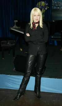 Cyndi Lauper at the Tower Records to promote her new album