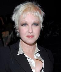 Cyndi Lauper at the Nicole Miller Fall 2007 fashion show.