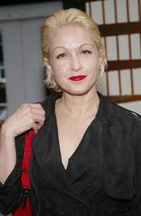 Cyndi Lauper at the Nicole Miller Spring/Summer 2004 Fashion Show.