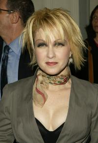 Cyndi Lauper at the American Theatre Wings 2004 Tony Awards Nominations.