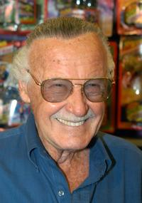 Stan Lee at the Spider-Man 40th Birthday celebration.