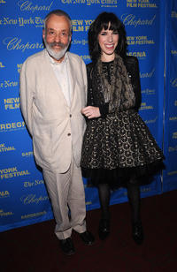 Mike Leigh and Sally Hawkins at the premiere of