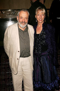 Mike Leigh and Charlotte Holdridge at the after party of