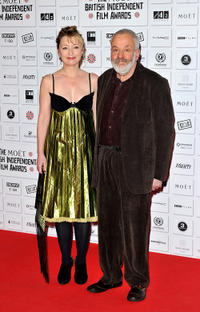Lesley Manville and Mike Leigh at the Moet British Independent Film Awards.