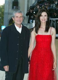 Claude Lelouch and his wife Alexandra Martinesat at the screening of