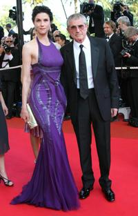 Alessandra Martines and her husband Claude Lelouch at the screening of