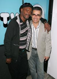 Eugene Levy and Samuel L. Jackson make an appearance on MTV's Total Request Live.