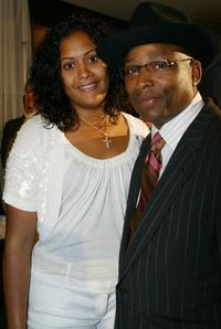 Terry Lewis and his wife Indira at the Hero Awards.