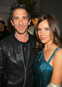 Davis Factor and Sarah Buxton at the Mercedes-Benz Fashion Week.