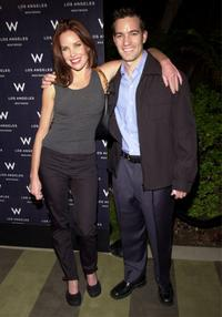 Sarah Buxton and Chad Zimmerman at the grand opening of W. Los Angeles Hotels.