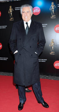 Lando Buzzanca at the Italian Movie Awards in Rome.