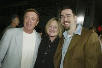 Larry Cohen, Lauren Lloyd and Chris Morgan at the premiere of
