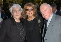 Norman Lloyd, Harper Lee and Veronique Peck at the reception prior to the Library Foundation of Los Angeles 2005 Awards Dinner.