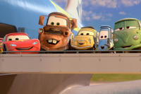Lightning McQueen, Mater, Luigi, Guido and Fillmore in ``Cars 2.''