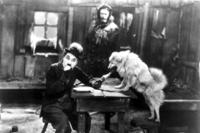 A scene from the film THE GOLD RUSH.