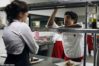Nora Tschirner as Hanna and Unax Ugalde as Daniel in ``Bon Appetit.''